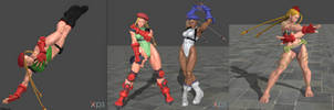 Street Fighter V Cammy pose pack by ysc976