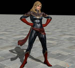 Captain Marvel pose Animation
