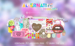 alternative overlays | archive png's by Burn-the-life