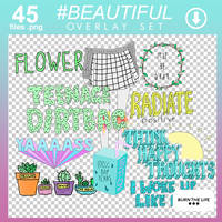 #BEAUTIFUL | Overlay Set by Burn-the-life