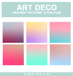 Art Deco | Gradient Textures by Burn-the-life