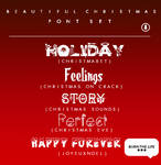Beautiful Christmas |FONT SET|