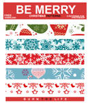 Be Merry XMAS Patterns