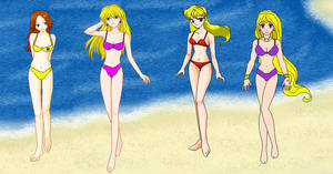 Nintendo Girls Beach -1