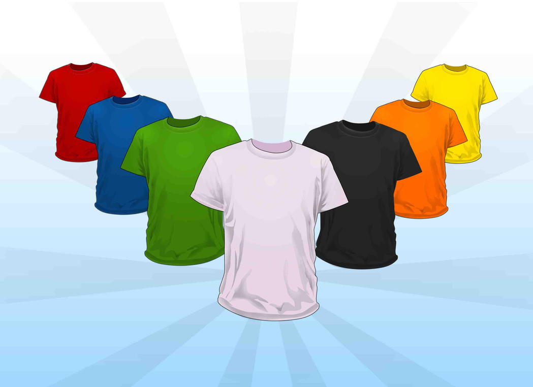 Playeras de colores PSD by GianFerdinand