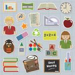 Iconos de objetos escolares EPS