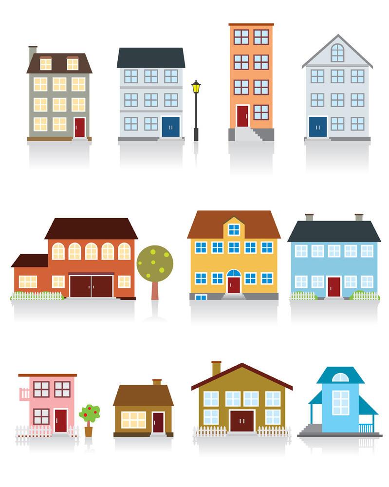 Edificios y casas EPS by GianFerdinand on DeviantArt