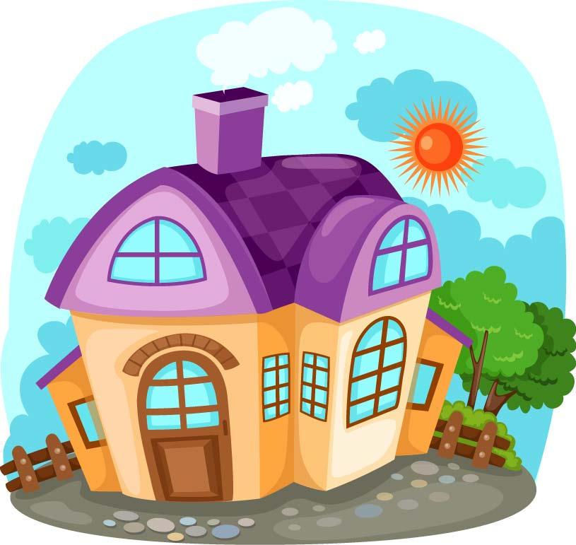 Casas de caricatura EPS by GianFerdinand