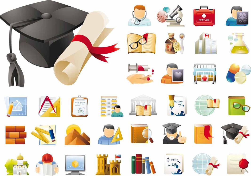 45 iconos educativos y de ciencias AI EPS by GianFerdinand