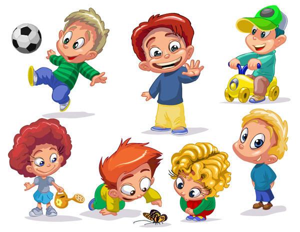Ninos en caricatura EPS -Set con mas de 30 ninos- by ...