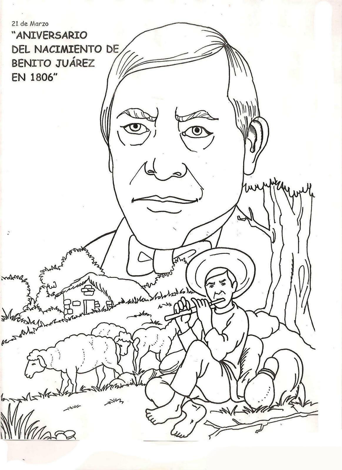 Dibujos de Benito Juarez para colorear JPG PNG by GianFerdinand