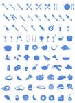 Iconos de comida y cubiertos PSD by GianFerdinand