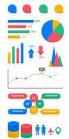 Elementos para infografia PSD