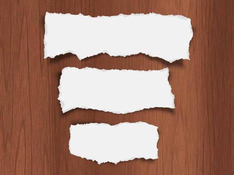 Trozos de papel PSD