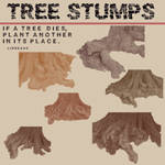 Six Tree Stumps