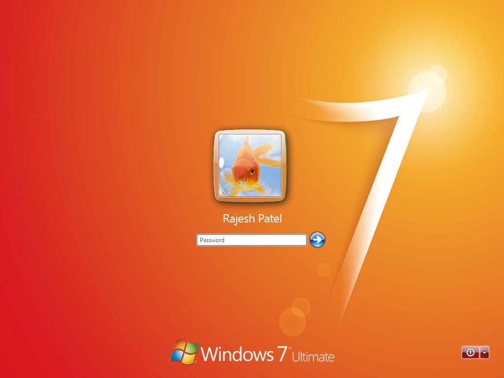Win 7 Login for XP - Orange by Rahul964