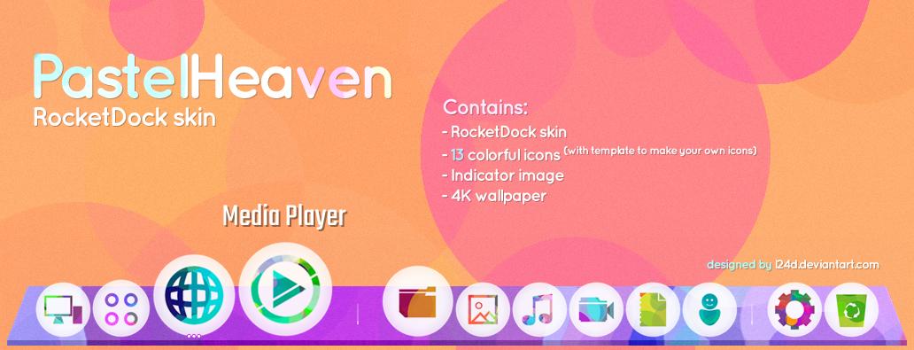 PastelHeaven RocketDock skin by l24d