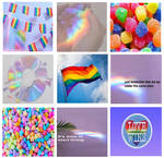 +gay pride moodboard, rainbow+