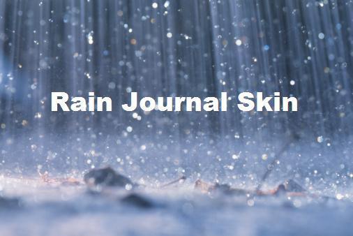 Rain Journal Skin by banishedcatgirl233