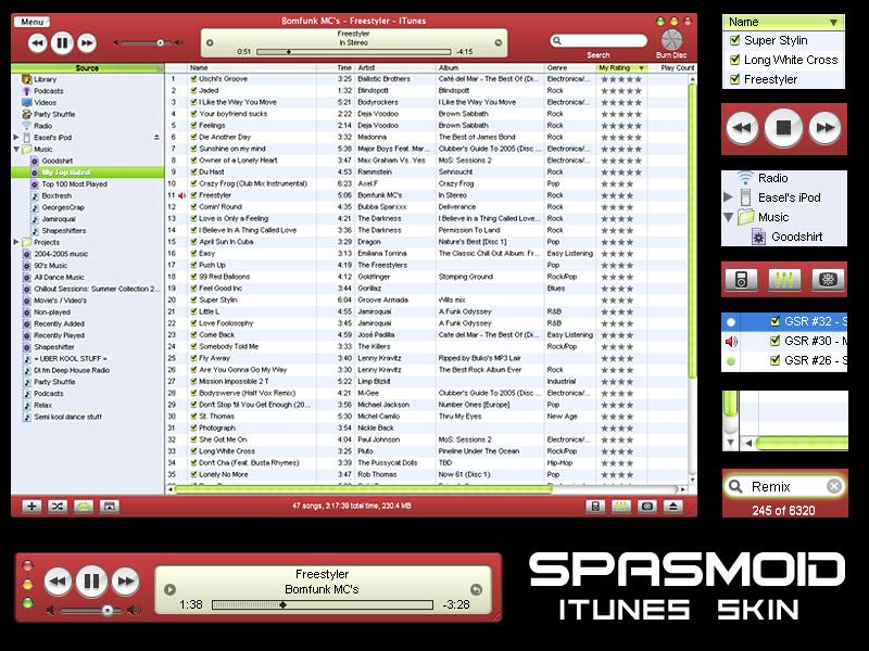 SPASMOID - iTunes Skin