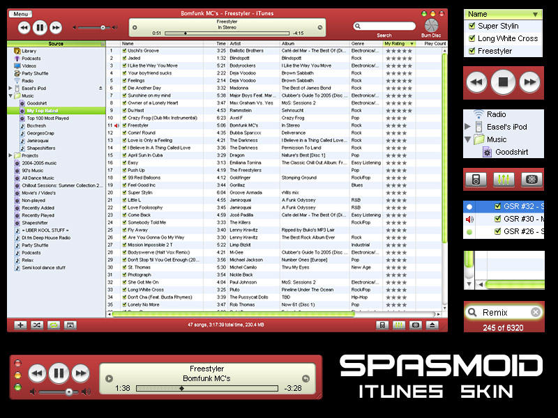 SPASMOID - iTunes Skin by Easel