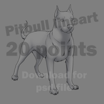 Pitbull Lineart 20 Points
