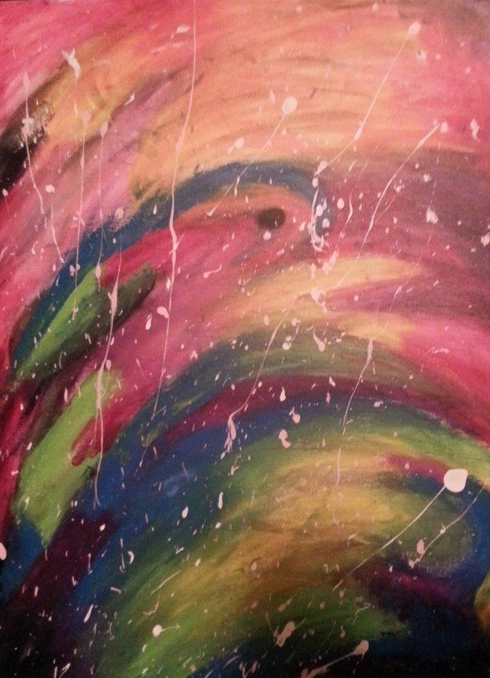 color splatter abstract by kaykay18tink