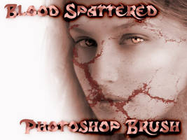 blood spattered brush EDITDESC by mahgnitton