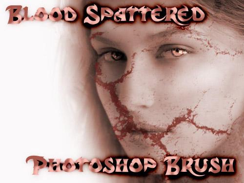 blood spattered brush EDITDESC by mahgnitton