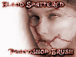 blood spattered brush EDITDESC