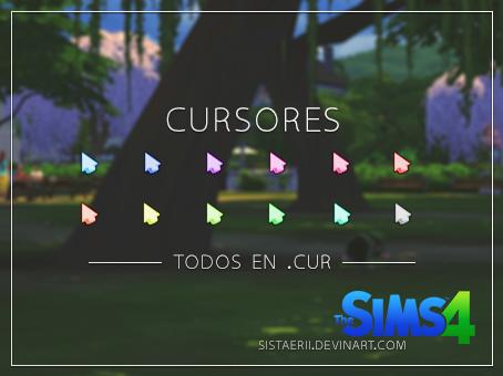 Cursores- Los Sims 4 by sistaerii