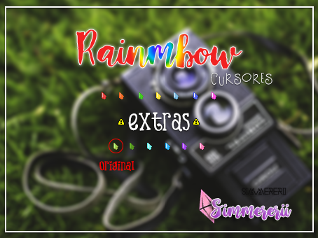 Raimbow Cursores By Simmererii by sistaerii
