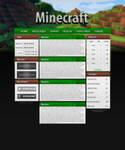 Minecraft Website PSD