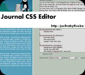 Journal CSS Editor 0.10 by xork