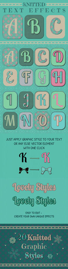 FREE Knitted Text Effects. Graphic Styles
