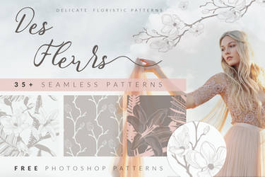 35+ FREE Floristic Patterns by HelgaHelgy