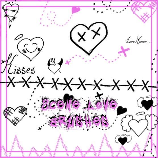 Scene Love Hearts