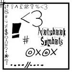 Note Book Symbols Brushes