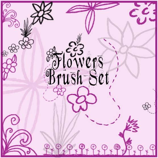 Flowers Brush Set