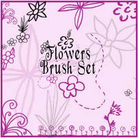 Flowers Brush Set by Red--Roses