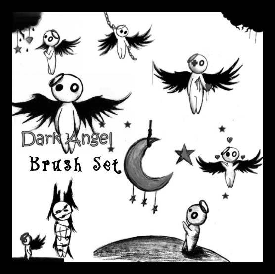 Dark Angel Brush Set II by Red--Roses