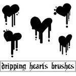 Dripping Hearts Brushes