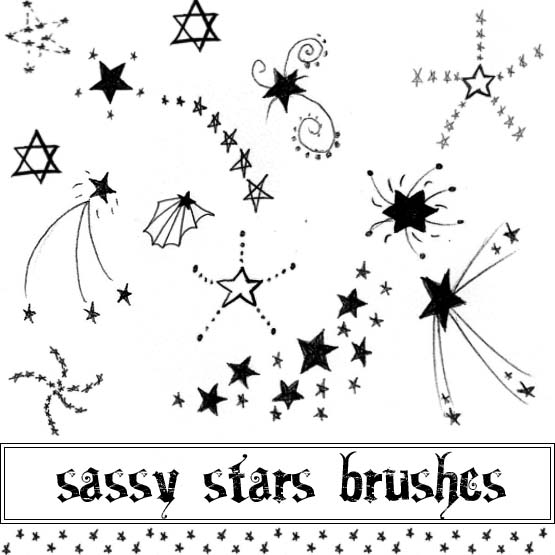 Stars Brushes by Red--Roses