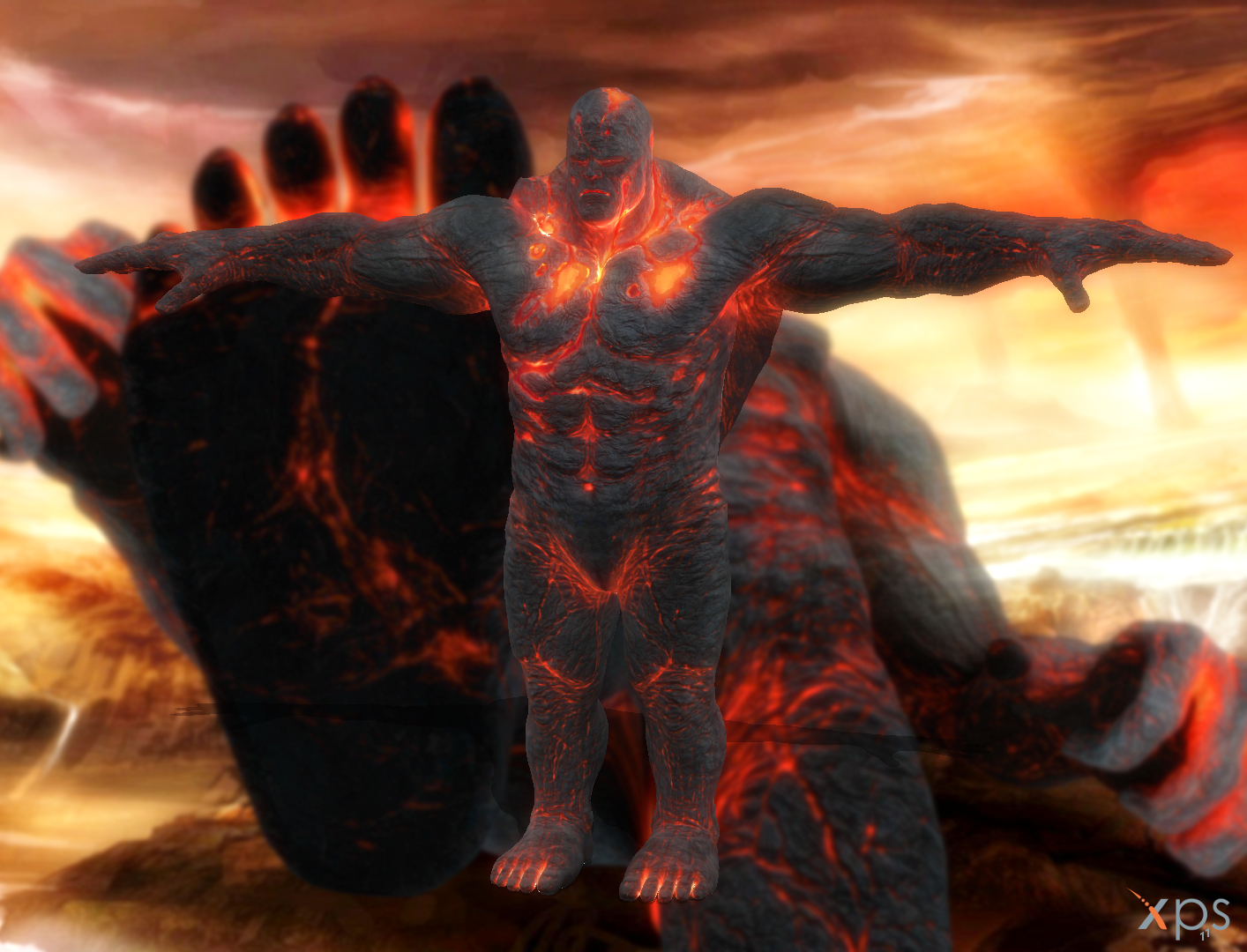 gow iii perses lava titan by rpgxplay on deviantart