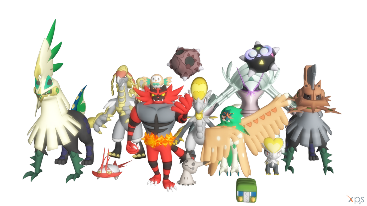 Alola Pokemon Pack for XNAlara by RPGxplay