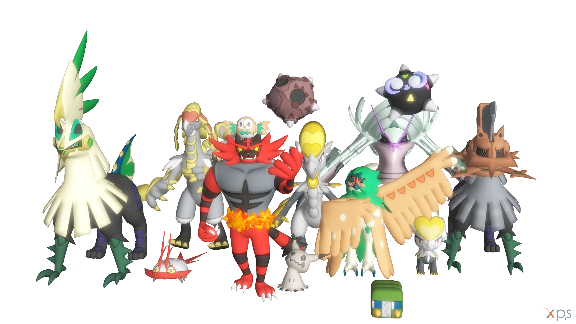 Alola Pokemon Pack for XNAlara