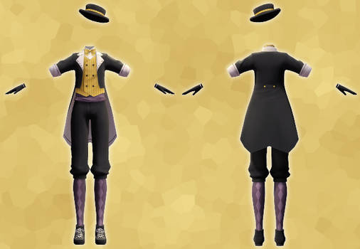 MMD Monochrome Baku Outfit DL