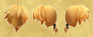 MMD Monochrome Baku Hair DL
