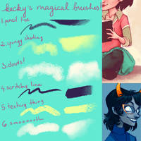 kecky's magical brushes by Kecky