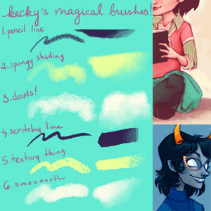 kecky's magical brushes